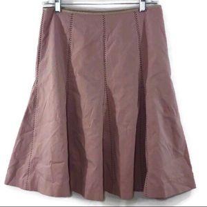 Elevenses Anthropology  Panneled Stitch Skirt